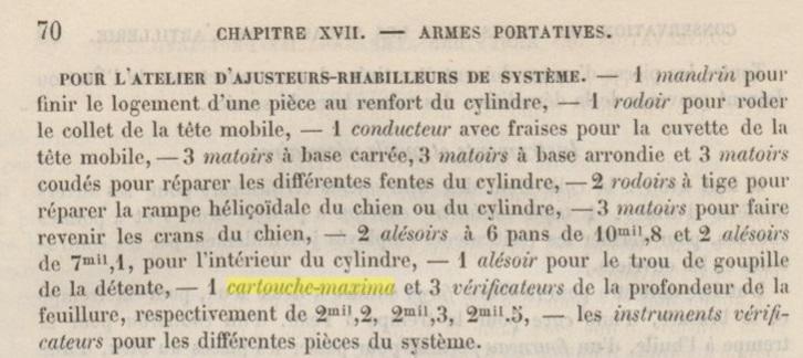 outil vérification calibre pour revolver mle 1873, Aide-mémoire à l'usage des officiers d'artillerie. Chapitre 17