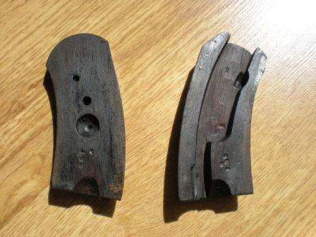 plaquettes du revolver 1873