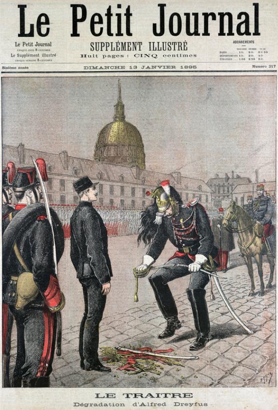 Le Petit Journal Janvier 1895: Le Traitre Albert dreyfus, etui jambon